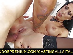 CASTING ALLA ITALIANA - Italienisch Amateur Babe bekommt Anal-Sex