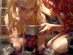 Tied up blonde bdsm sub punished harshly