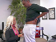 Bridgette b large tit mother i'd like to fuck acquires a bonus for all her hard work,threatening a large dark weenie
