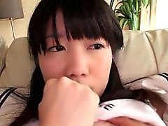 Busty japanese schoolgirl hairy clit rubbed