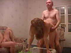 Russian bêbado amador sexparty
