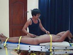 Asian Boy Hermis Bound and Tickle Handjob