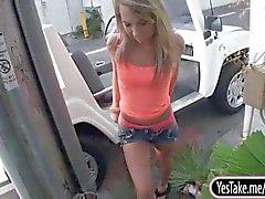 Round butt amateur girlfriend Kiara Knight fucked on cam