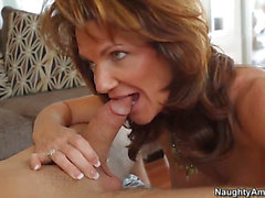 Hawt dude Daniel Hunter pleases older mommy Deauxma with one naughty fuck