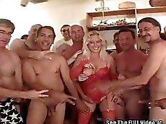 Blonde MILF Darian Sucks Out Cocks Semen