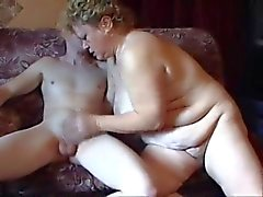 Chubby Mature Gets That Young Cock