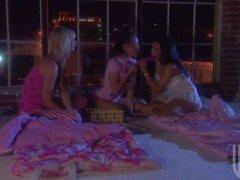 Brooke Banner Maya Gates and Renae Cruz play with vibrator