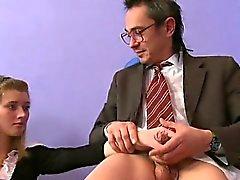 Playgirl is sucking teacher's cock