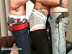 Três gays se divertir chupando duro part5