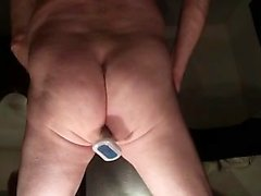 Solo amateur gay dildoing his anus