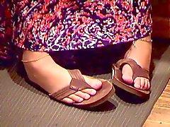 Versteckte Kamera Hochschule Teens Kassen Frauen Füße Beine