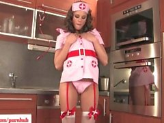 Horny Nurse Lola Toys Glass Dildo