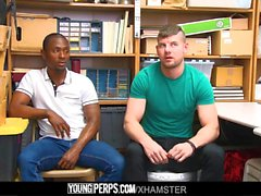 YoungPerps - Shoplifter Gets fucked by Hung Guard