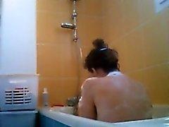 Tädilleni tietämätön kylpyhuone vakoilija epäkesko