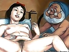 Blanche-neige et naines orgie hentai