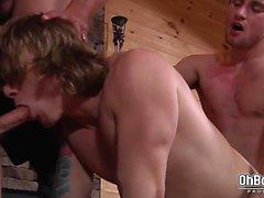 Bryce, Scott Harbor and Sebastian Young fuck Tom Faulk
