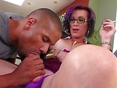 Tgirl River gets hammered in the ass