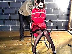 Colore rosso schiavitù vestito per di Hottie Asia
