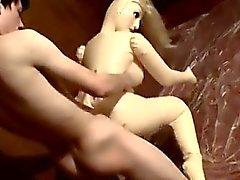 Os twinks XXX Uma Boneca a mijar por todo o