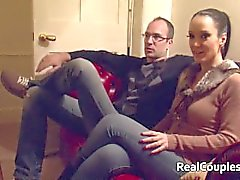 Hot kinky wife has sex with cross dressing husband
