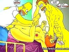 Simpsons hentai paródia pornô