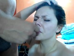 babe gets used as a doll amateur blows a dude for huge facia