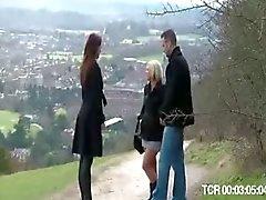 Puta loira britânico fica fodido depois de cair de uma bicicleta