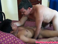 Filipino anal pounded doggystyled after bj