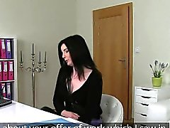 Brunette amateur banged and spanked on casting