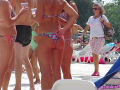 Bikini Sexy Amateur Babes Public Piscine Voyeur HD Spycam vidéo