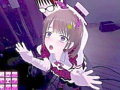 En 3D adolescente de ídolo de Japanese lindo