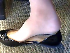 Candida Stati Uniti universitario Feet teenager shoeplay Dangling in Calze di nylon TP a 4