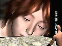 горячего детка 3д аниме позируют нее клип белья