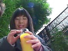 Japon sevimli teen blowjob