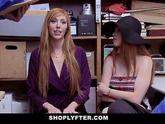 ShopLyfter - Atrapando y follando Red Head Thief