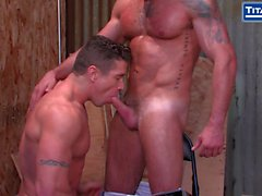 Two Tattooed Jocks Feeling Each Others Muscles