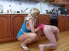 DominaFist - Kinky maid gets off on fisting