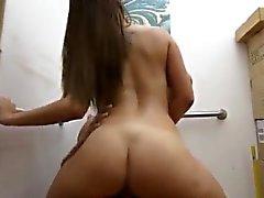 Büyük dövme kız Seksi Latina Stewardess Fucking