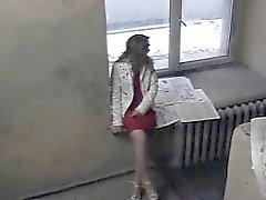 камера Охрана охватывает девушка сосание и трахавший