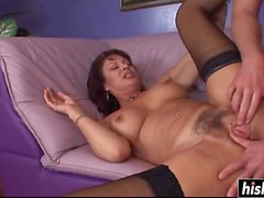 Mature babe has fun with a friend