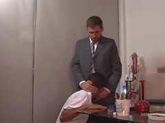 Principal Andres enjoys punishing the errant schoolboy.