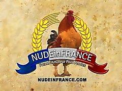 Französisch Mädchen hat eine großartige Spiel Datum