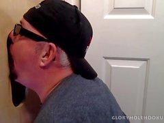 Verheiratet Schwarze Kerl Gloryhole Fucks My