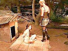 Amante quente jogar com slavegirl jovem