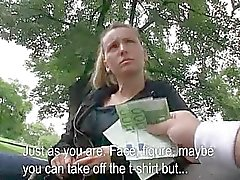 Schattig amateur Tsjechische meisje betaald om te neuken