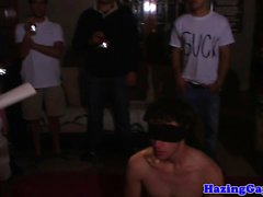 Facialized pledging twink assfucked at hazing