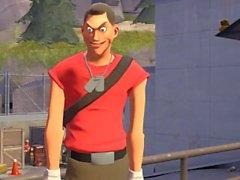 Overwatch Tracer obtiene follada por Team Fortress 2 Scout y Spy