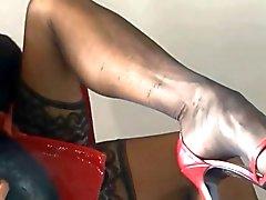 mature black nylons