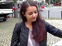 Real picked up euro teen stripping in public