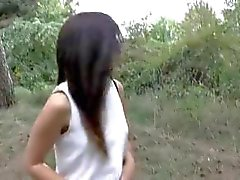 19 year old Step Sister In Forest With Step Brother